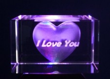 Heart and I Love You Laser Block