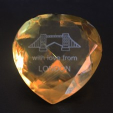 Yellow Crystal Heart -London Bridge