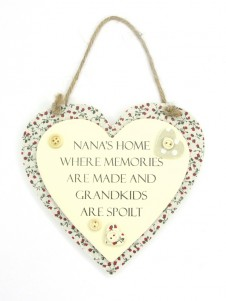 Sentiments Heart Hanging Plaques Nanas Home