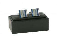 Blue Stripe Square Cufflinks