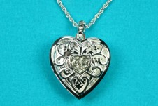 Silver Two Picture Heart Locket