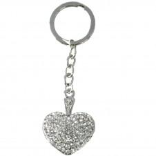 Diamante Keyrings - Heart