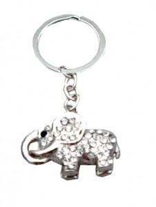 Elephant  Diamante Keyring