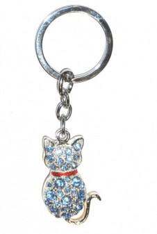 Diamante Keyrings - Cat