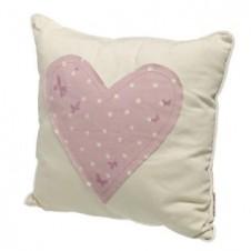 Heart Floral Design Cushion
