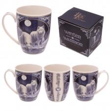 Fantasy Winter Warrior Wolf Design New Bone China Mug