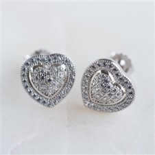 CUBIC ZIRCONIA MICRO PAVE STONE STUDS
