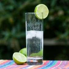 MUMMYS JUICE GIN and TONIC GLASS