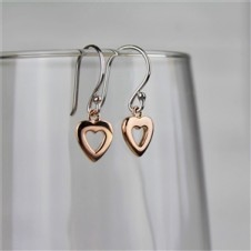 ROSE HEART DANGLE EARRINGS