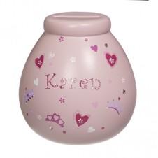 Personalised Money Pot  KAREN