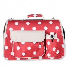 Large Polkadots Igloo Carrier Red