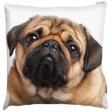 Decorative Pug Print Cushion