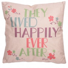 Cushion with Insert - THEY LIVED HAPPILY EVER AFTER