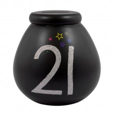 Celebrate in Style 21st Birthday Pots of Dreams Black