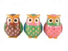 Large Dotty Owl Money Box