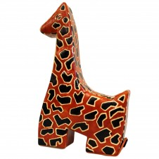 Handmade Leather Money Boxes - Lrg Yellow Giraffe