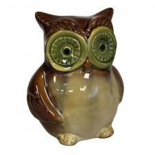 Ceramic Owl Money Boxes - Brown