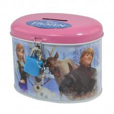 Disney Frozen Money Bank Tin Elsa Anna Olaf Sven