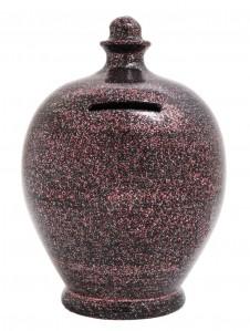 Terramundi Glitter On Black Money Pot