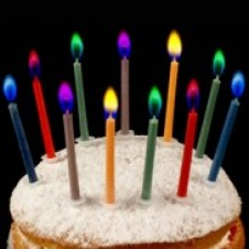 Colour Flame Birthday Candles 12 pack
