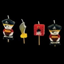 Pirate Candles 4 Pack