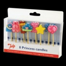 Princess Candles 8 Pack