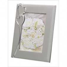 Silver Hearts Frame 5x7