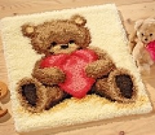 Latch- Hook Popcorn the Bear Rug
