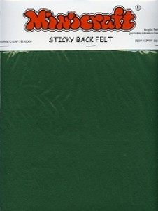 Green Sticky Back Felt 23x30