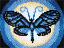 Latch hook kit - Butterfly Moon Rug