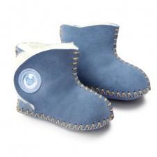 Cwtch Petrol Blue Luxurious Sheepskin Booties