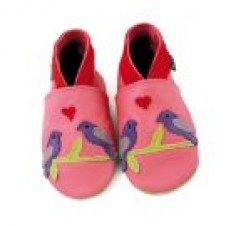 LOVEBIRDS  Pink First Baby Shoe