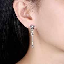 Retro Star Single Arrow Earrings