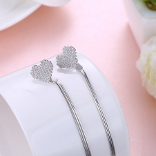 Stirling Silver Heart Earrings