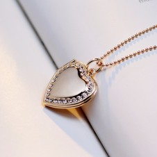 Crystal Love locket picture necklace
