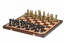 Decorative Folding Wooden Chess Set SPARTAN