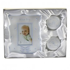 Baby Boy Gift Set Photo Frame 1st Curl Tooth