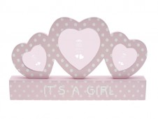 Baby Girl Triple Photo Frame