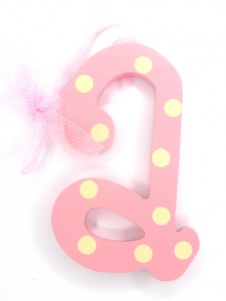 Hanging Letters Baby Girl A