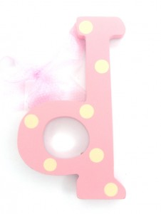 Hanging Letters Baby Girl D
