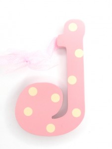 Hanging Letters Baby Girl J