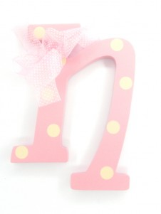 Hanging Letters Baby Girl N