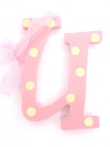 Hanging Letters Baby Girl U