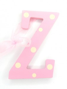 Hanging Letters Baby Girl Z