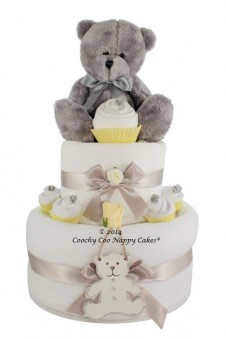 TEDDY BEAR NAPPY CAKE UNISEX