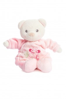 Snuggles teddy Pink in an adorable sleepsuit
