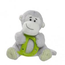Elliot Friend Morris the Monkey Holding the Letter D