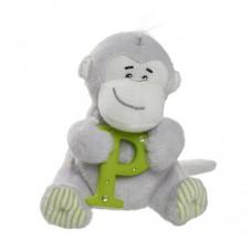 Elliot Friend Morris the Monkey Holding the Letter P