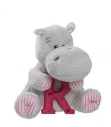 Elliot Friend Hetty the Hippo Holding the Letter R