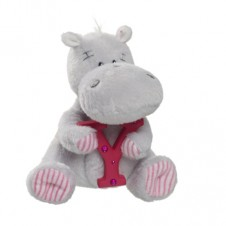 Elliot Friend Hetty the Hippo Holding the Letter Y